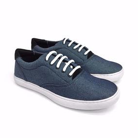 Tênis Sapatênis Jeans Cadarço Branco Ref. 546