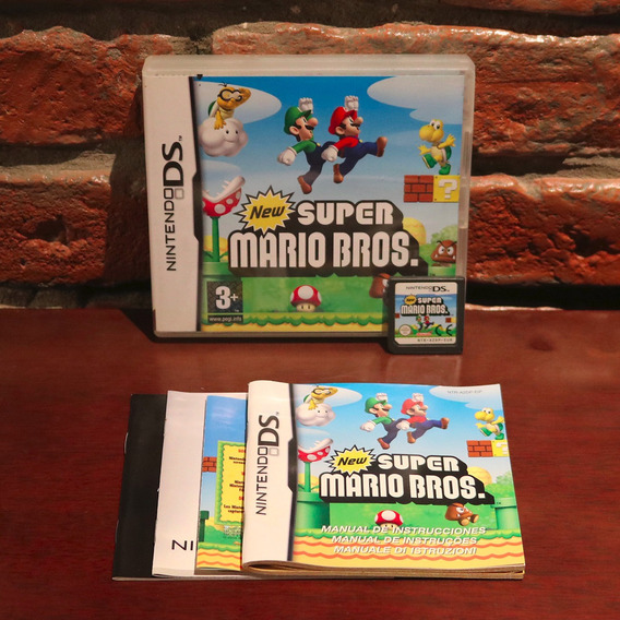 New Super Mario Bros Original Completo C/ Manual Em Português Nintendo Ds 3ds