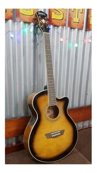 Guitarra Electroacustica Washburn Ea15atb De Showroom Nueva