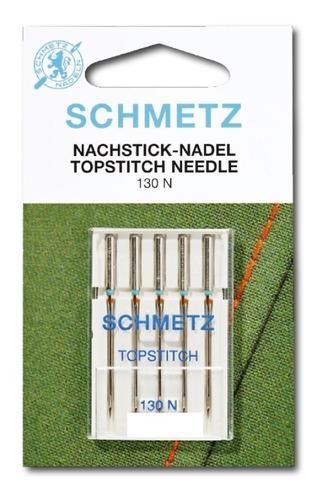 Imagen 1 de 2 de Aguja Top Stitch Schmetz Para Máquina De Coser Familiar