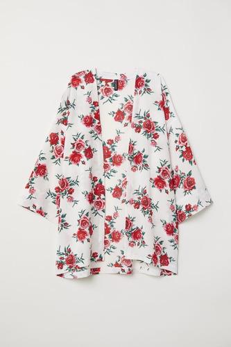 Kimono Hym Rosas Nuevo Con Etiqueta!