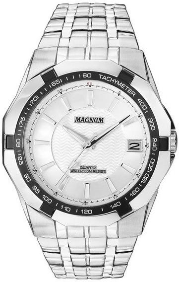 Relógio Magnum Masculino Analógico Kit Com Pulseira Ma32210i