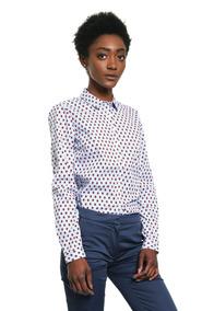 Blusa Nelia Shirt Ls W1 - Tommy Hilfiger - 966848 - Azul