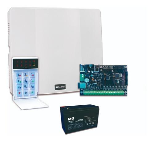 Panel Alarma Casa Pc-900 Comunicador Wifi Teclado Led Garnet