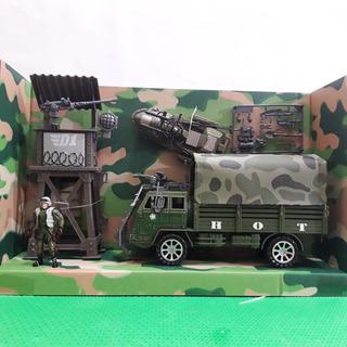 Boneco Militar Tipo Comandos Ação Sos Gi Joe Caminhão Torre
