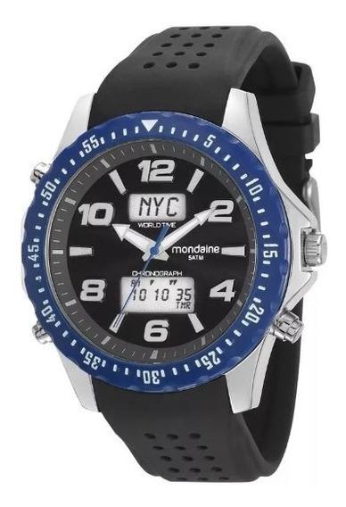 Relógio Masculino Mondaine 53619g0mvni1 Anadigi Preto