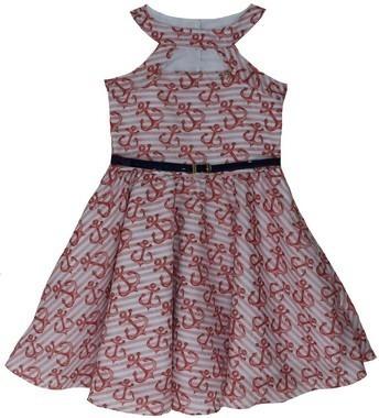 Vestido Infanto Juvenil De Âncoras Katitus Tam: 4 Ao 12 (1416)