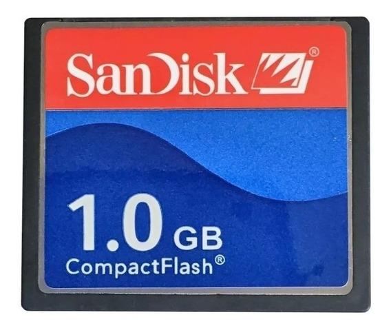 Kit 5 Cartão De Memória Compact Flash (cf) Sandisk 1gb