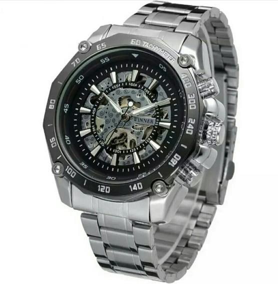 Relógio Winner,automático E A Corda,masculino,modelo Tm427