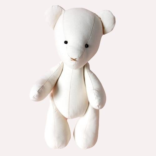 Urso Ursinho De Pelúcia Baby Com 30 Cm De Algodão Cru