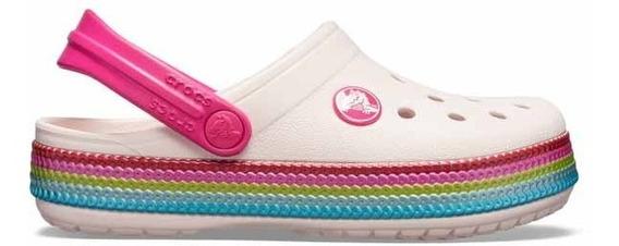 Zapato Crocs Infantil Crocband Sequin Band Clog Lentejuelas