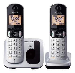 Telefone Panasonic Sem Fio 2 Ramai Com Viva-voz Kx-tgc212lb1