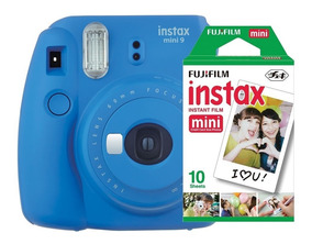 Câmera Instantânea Fujifilm Instax Mini9 Azul Escuro+20 Fil*