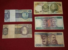 Lote De 5 Billetes Extranjeros