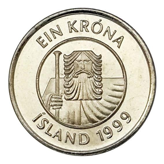 Ch C/ Islandia - 1 Krona 1999 Km# 2a Unc.