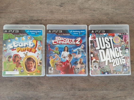 (03 Jogos) Sports Champions 2 + Start +just Ps3 Move Kinect