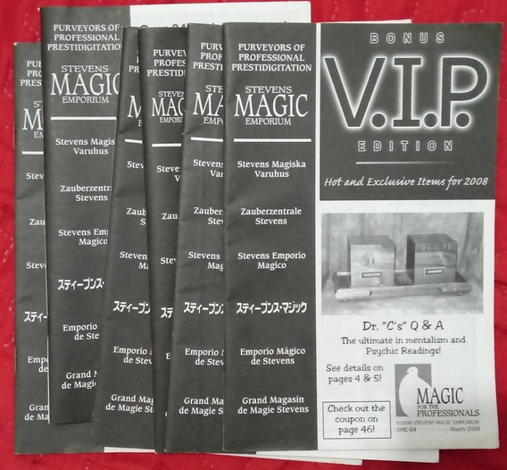 Catálogos Stevens Magic Emporium - Lote Com 10 Exemplares