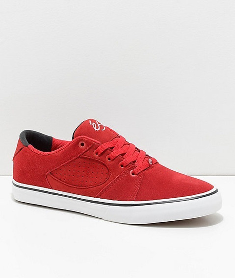 Tenis Es Square Three Red And White Skate Shoes