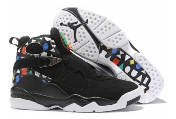 Tenis Air Jordan 8 Retrô Black All Colors