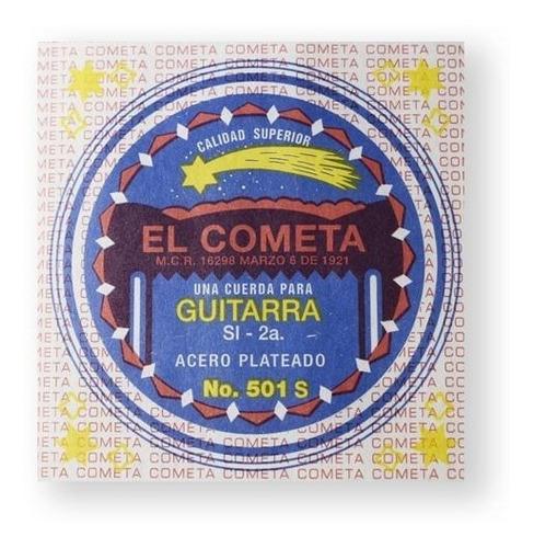 Imagen 1 de 1 de Cometa Cuerda 501s(12) Para Guitarra Acústica, 2da, Acero