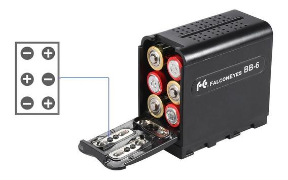 Adaptador De Pilhas Para Iluminador De Led Np-f970 E Outros