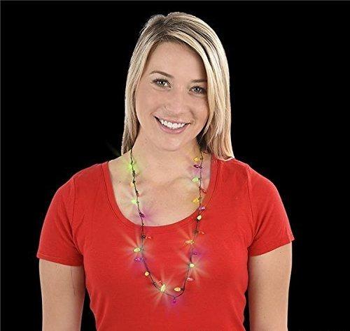 28 Collar Luces De Navidad Light-up, Estuche De 72
