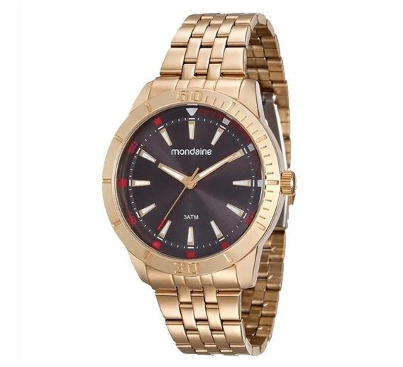 Relógio Masculino Dourado Mondaine 99144gpmvde2