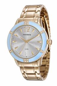 Relógio Mondaine Feminino Glamour Dourado 76600lpmvde2