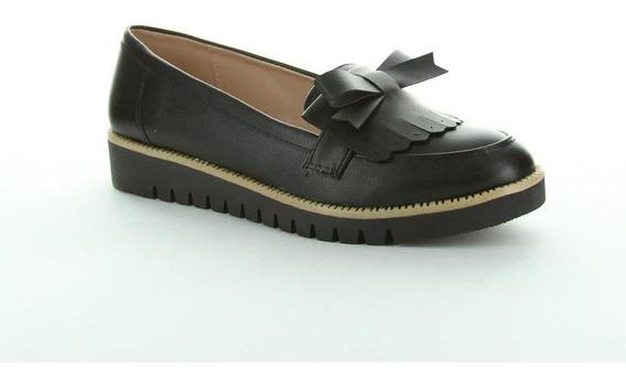 Zapato Cerrado Caramel Mujer Negro Tipo Napa 607