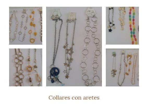 6 Juegos Collar Y Aretes (bisuteria Fantasia Fina) Mayoreo