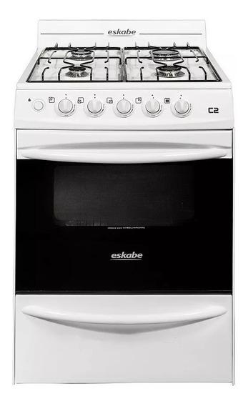 Cocina Eskabe C2 57 Cm Blanca Encendido Piezoelectrico Lp