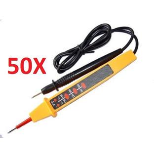 Kit 50 Testador De Tensao Testador Ca E Cc Profissional Veri