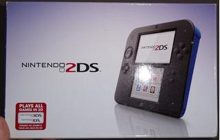 Nintendo 2ds Azul Y Negro + New Super Mario Bros