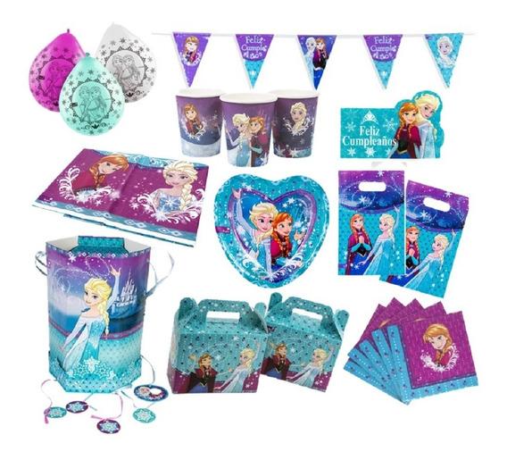 Pack Cumpleaños Frozen X 12 Original Cotillón Activarte