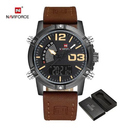 Relojes Originales Naviforce Gama Premium Acero Y Cuero