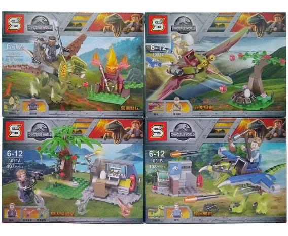 Lego Dinossauro 418+peças Juarassic World 4 Modelos Legos