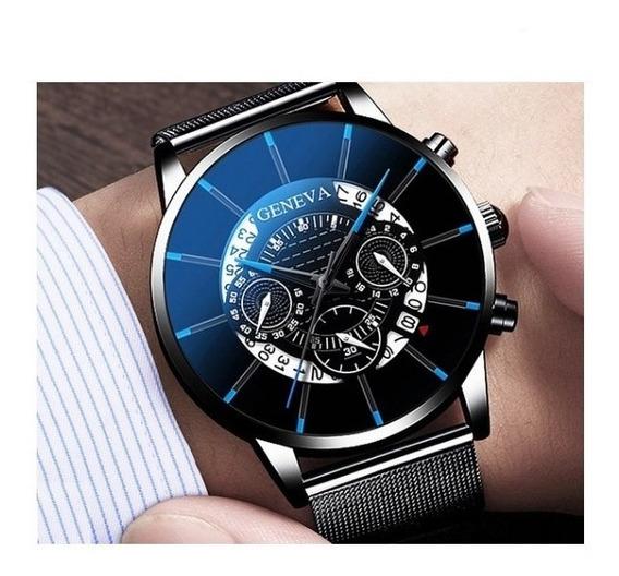 Relógio Analógico - Geneva - Modelo Luxury Men