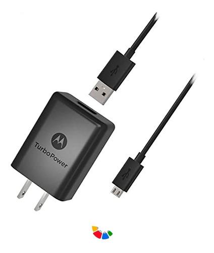 Cargador Motorola Original Turbo Power/carga Rapida+cableusb
