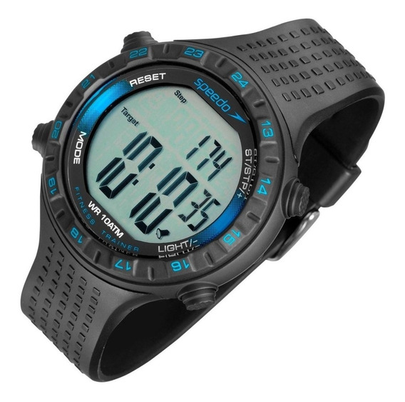 Relógio Speedo Com Cx E Pulseira De Plastico Preto