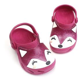 Babuche Ventor Baby Raposa Gliter - Pink