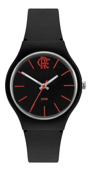 Relógio Technos Flamengo Feminino Preto E Vermelho