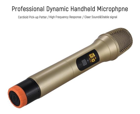Uhf Handheld Sem Fio Microfone Mic Sistema 48 Canais Para