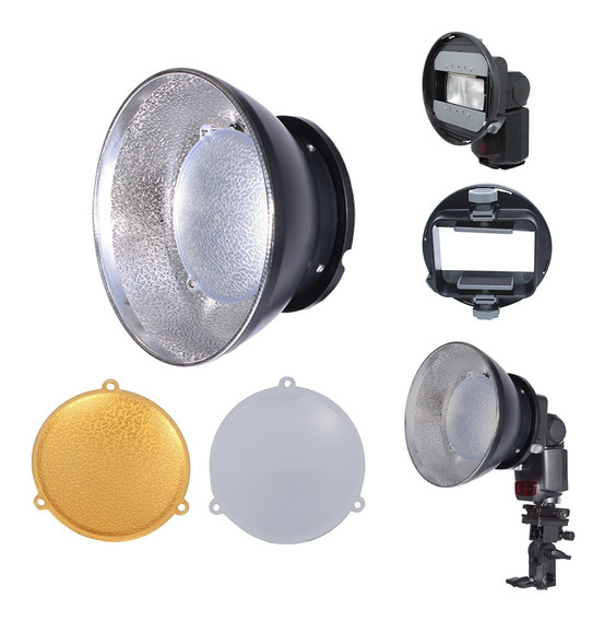 Refletor Beauty Dish Universal Para Flash Speedlight