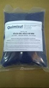 Sílica Gel Azul - Pacote De 1kg - Grânulos De 4 A 8 Mm