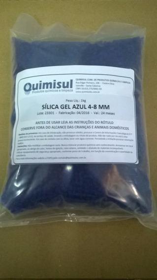 Sílica Gel Azul - Pacote De 2 Kg - Grânulos De 4 A 8 Mm