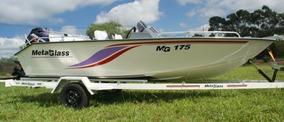 Lancha Metalglass Mg 175 C/ Motor De Popa Mercury 60 4t