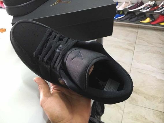 Nike Jordan 1 Low Negro Talla 7 Mx