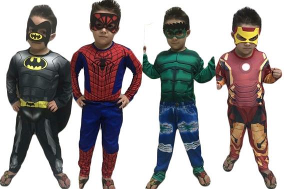Fantasia Homem De Ferro Infantil Com Enchimento Mascara