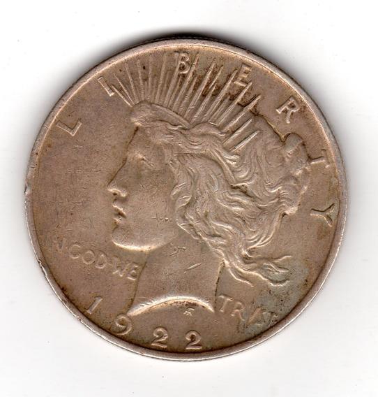 Bkz / Estados Unidos - Peace Dollar 1922 Plata