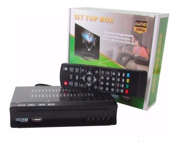 Kit Conversor Digital Tv Gravador Usb 1080p + Antena Digital